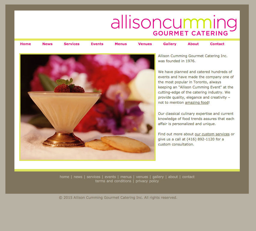 Allison Cumming Gourmet Catering