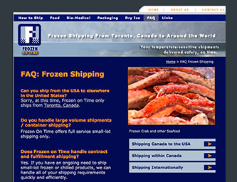 Frozen Shipping FAQ