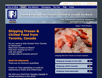 Shipping Frozen & Chilled Food from Toronto, Canada