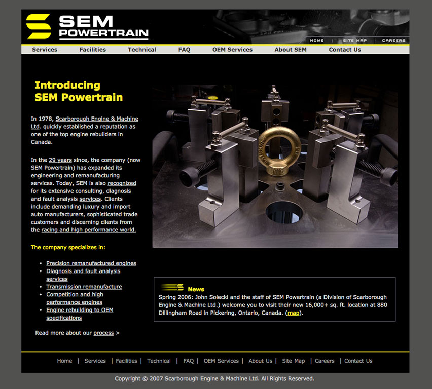 SEM Powertrain Engine building